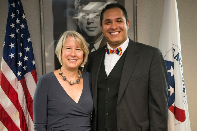 Peace Corps Director Carrie Hessler-Radelet with Manuel Colón