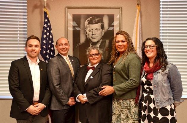 L-R: Daniel Hinkle, David M. Pérez, Lisbeth Melendez Rivera, Alex Elizabeth Rodriguez,, Alicia Barrera. Not pictured Manuel Colón who joined by teleconference.