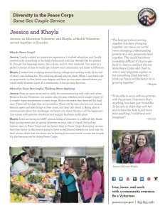 Jessica and Khayla share their success story as a same-sex couple in the Peace Corps.