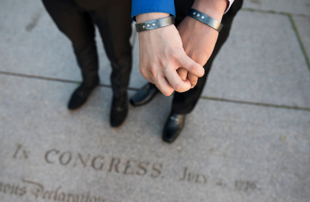 Film and Kyle's engagement bracelets. Photo: Alex Snyder