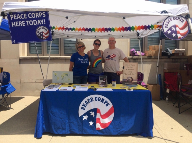 Representing Peace Corps at Pride in Kentucky
