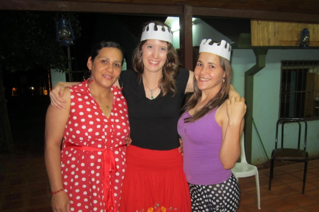 My host sisters and I celebrating my 23rd birthday.