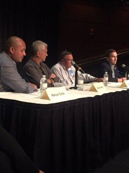 (L-R) Manuel Colón, Ralph Cherry, Jim Kelly, and Daniel Hinkle
